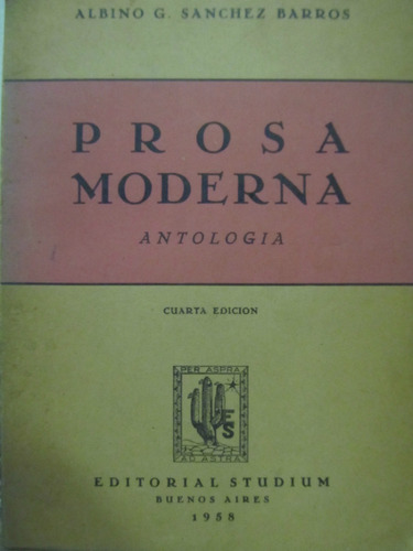 el arcon prosa moderna por albino g. sanchez barros