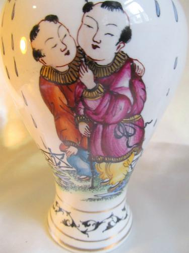 el arcon raro florero violetero de porcelana hp 19cm 15004