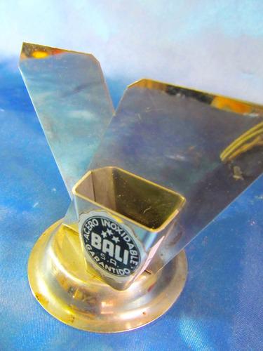 el arcon servilletero palillero de acero inoxidable  24072