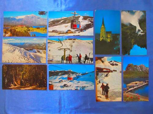 el arcon tarjeta postal bariloche cerro catedral cablecarril