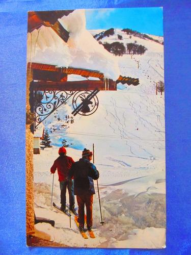 el arcon tarjeta postal bariloche invierno en cerro catedral