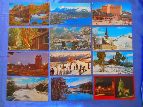 el arcon tarjeta postal bariloche vista nocturna iglesia
