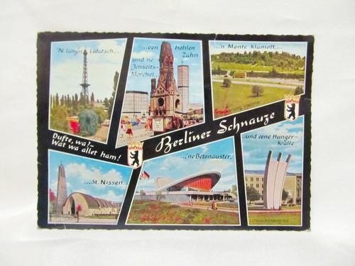 el arcon tarjeta postal collage fotos de berliner schnauze