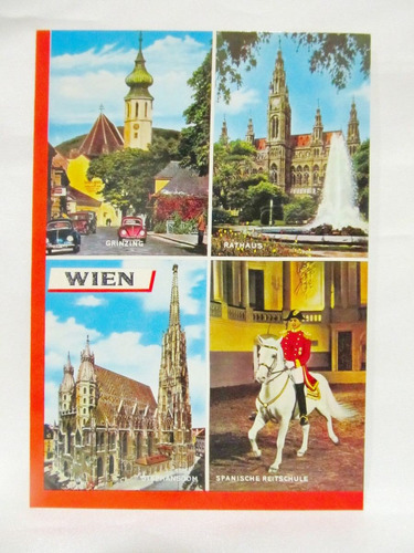el arcon tarjeta postal collage fotos de wien viena