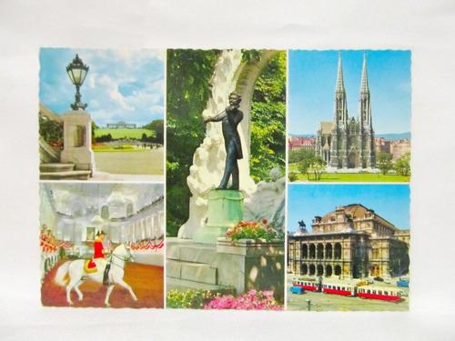 el arcon tarjeta postal collage fotos souvenir de viena