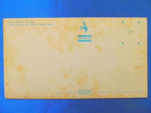 el arcon tarjeta postal cordoba alta gracia casino 431 08