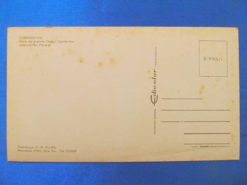 el arcon tarjeta postal corrientes puente chaco-corri 431 09