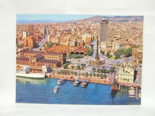 el arcon tarjeta postal foto de barcelona colon puerta paz
