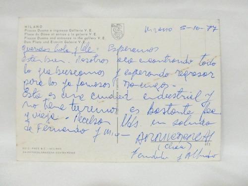 el arcon tarjeta postal foto de milano piazza duomo italia