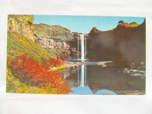 el arcon tarjeta postal foto de neuquen salto del rio agrio