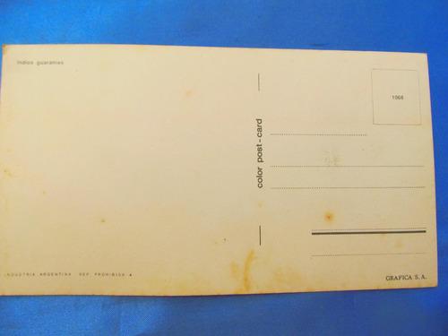 el arcon tarjeta postal foto  indios guaranies  431 01
