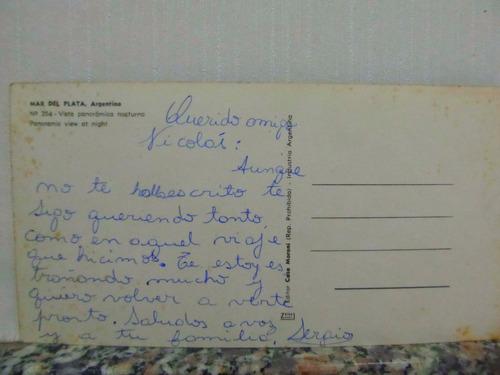 el arcon tarjeta postal foto mar del plata vista panor 46511