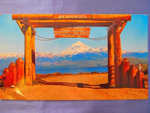 el arcon tarjeta postal foto neuquen parque nac. lanin volca