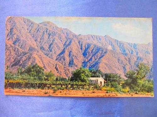 el arcon tarjeta postal la rioja viñedos e iglesia 431 13