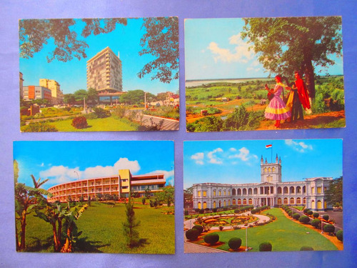 el arcon tarjeta postal lote de 14 de paraguay 43117