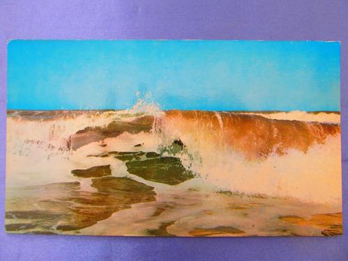 el arcon tarjeta postal mar del plata olas 431 11