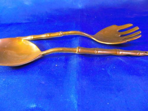 el arcon tenedor y cuchara de bronce 15082