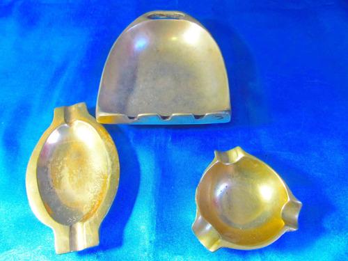 el arcon trio de ceniceros de bronce 17050