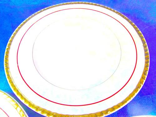 el arcon trio de platos de porcelana boulogne 19,5cm 18106