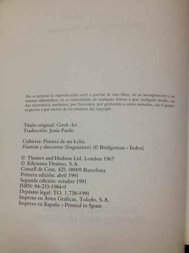 el arte griego - john boardman - destino - españa - 1991