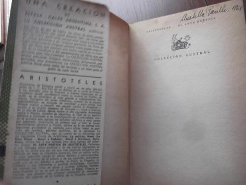 el arte poetica aristoteles coleccion austral espasa calpe
