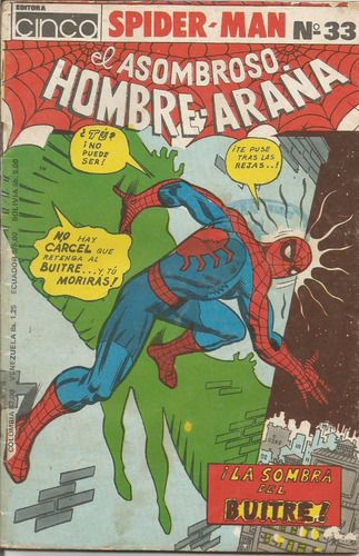 el asombroso hombre araña  varias revistas editora cinco