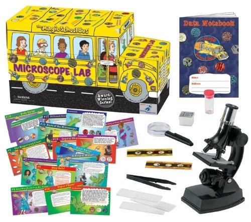 el autobús de la escuela de magia - microscopio