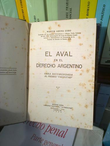 el aval en el derecho argentino martín aberg cobo