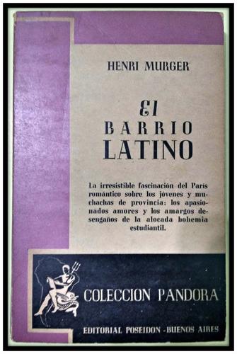 el barrio latino   henri murger