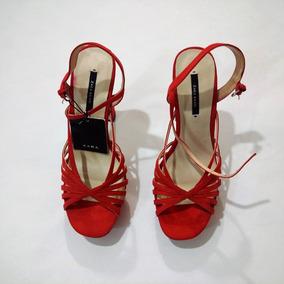 Cruzadas Sandalias Zapatos Libre Plataforma En Rojo Mercado Tiras PXuOTkZi