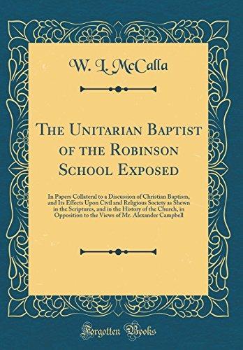el bautista unitario de la escuela robinson expuesto: en