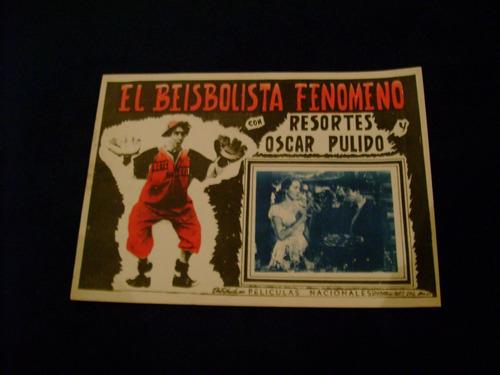 el beisbolista fenomeno  resortes  poster cartel 23.1.18