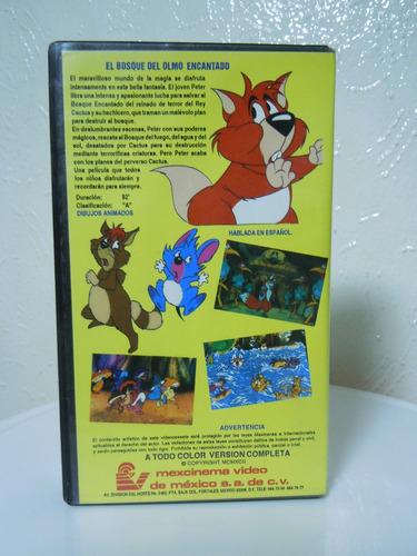el bosque del olmo encantado vhs, películas infantiles
