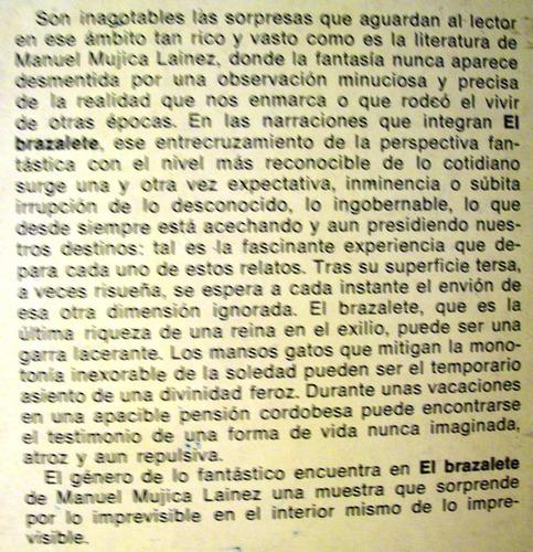 el brazalete manuel mujica lainez editora sudamericana 1979
