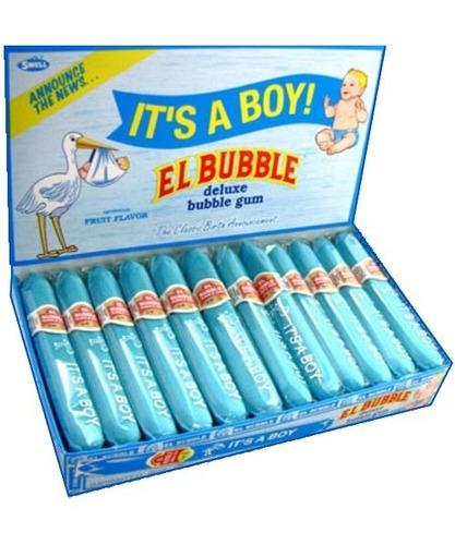 el bubble it's a boy bubble gum cigarros, paquetes (paque
