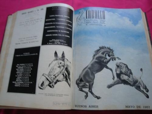 el caballo año 1957 lote de revistas en tomo pato turf polo