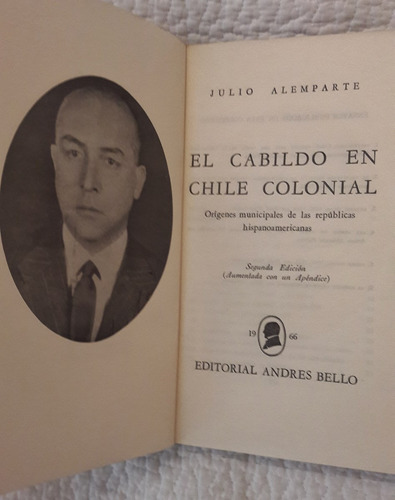 el cabildo en chile colonial   julio alemparte