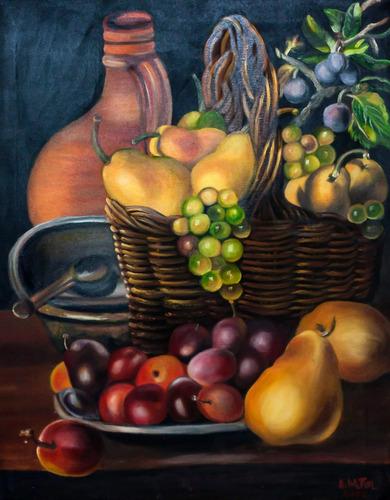 el cántaro y las frutas