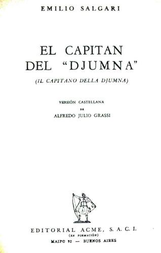 el capitán del djumna emilio salgari editorial acme 1955