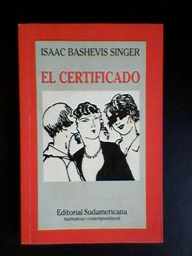 el certificado - isaac bashevis singer