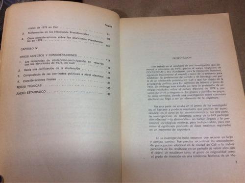 el comportamiento electoral en cali 1978. judith de campos