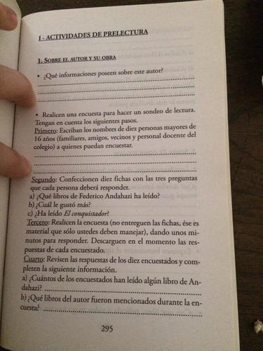 el conquistador - federico andahazi - con guía de lectura