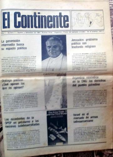 el continente bs as 1980 año 1 n°7 ago/sep 24p buen estado