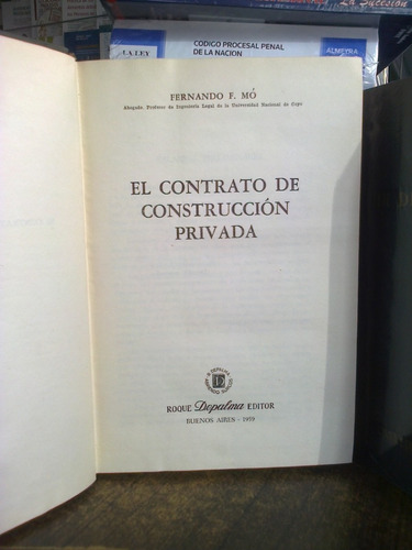 el contrato de construcción privada, mó fernando f.