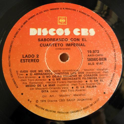 el cuarteto imperial saboreando disco lp vinilo cbs 1979