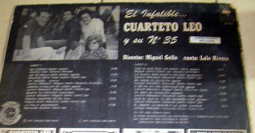 el cuarteto leo el infalible y su nº35 lp argentino promo