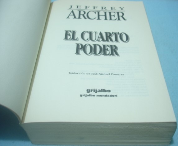 El Cuarto Poder. Jeffrey Archer. Libro - $ 229.99
