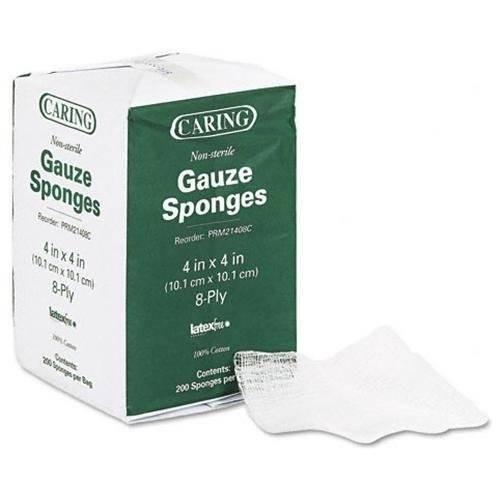 el cuidado medline tejidos de compresas de gasa de 4 x 4 no
