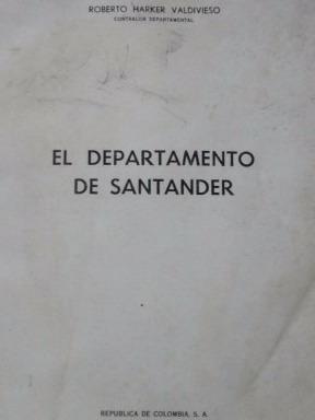el departamento de santander roberto harker 1960 pb186