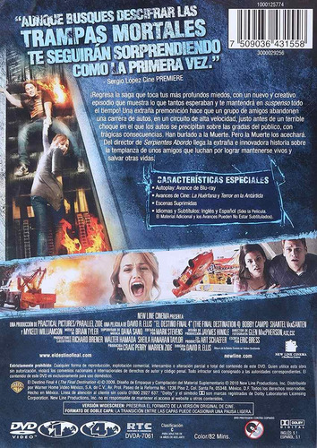 el destino final the final destination 4 cuatro pelicula dvd